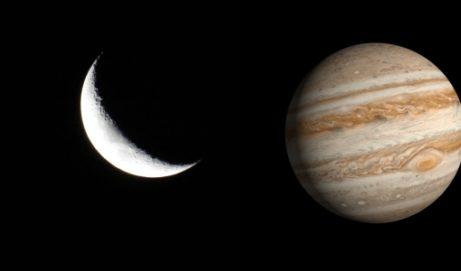 Congiunzione Luna Giove